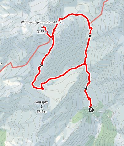 Karte / Von der Fane Alm zum Wilden See und auf die Wilde Kreuzspitze