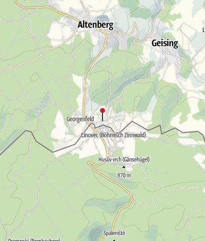 Karte / Montanlandschaft Altenberg-Zinnwald: Zinn