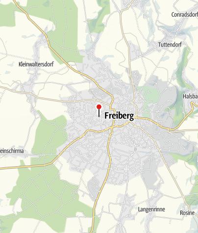 Karte / Montanlandschaft Freiberg: Silber