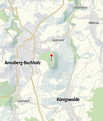 Karte / Bergbaulandschaft Pöhlberg: Silber