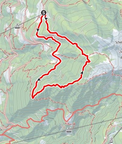 Karte / Rundwanderung oberhalb von Schenna von der Taser Alm über Lenzeben und Infingerhütte