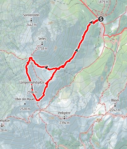 Karte / ORTOVOX Tourentipp: Bergtour auf die Lämpermahdspitze