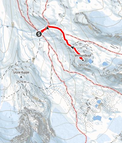 Karte / Vermuntkopf von der Wiesbadener Hütte