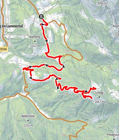Karte / Loseggalm Route Annaberg