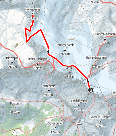 Karte / Amon-Klettersteig