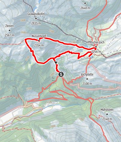 Karte / Familienwanderung zu den Pfitscher-Joch-Seen
