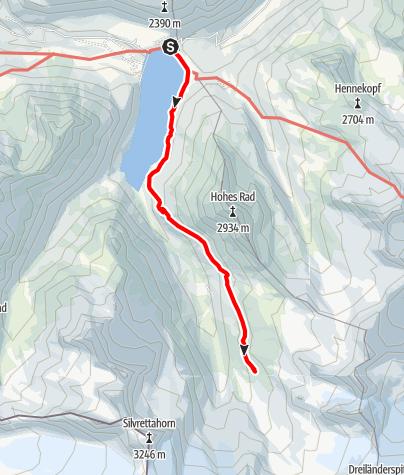 Karte / Wiesbadener Hütte von der Bieler Höhe - Sommerweg