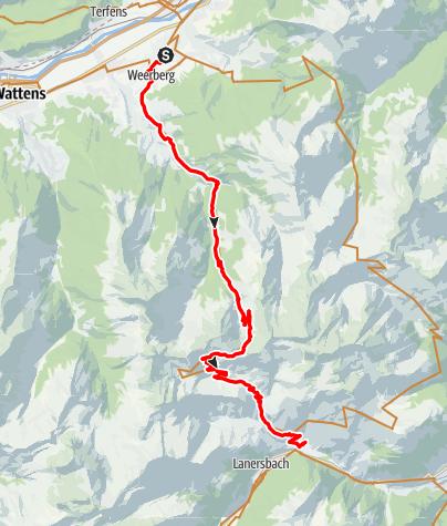 Karte / Rol It Etappe 3 Weerberg- Vorderlansbach