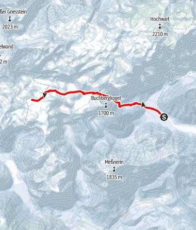 Karte / Etappe 1 Vom Bodenbauer zur Sonnschienhütte