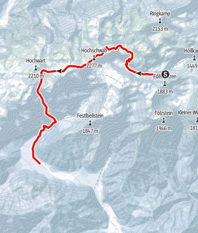 Karte / Etappe 3 Voisthalerhütte - Hochschwab - Rauchtal - Bodenbauer