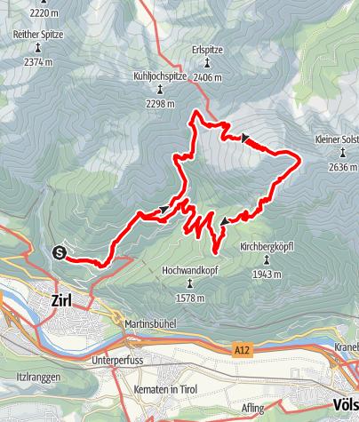 Karte / Großer Solstein 2541 m