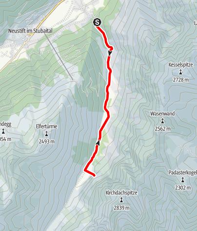 "Karte / ""Ollbm an Orbit"" Pinnistal - Kirchdachsockel Stubaier Alpen"