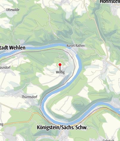 Karte / Wanderparkplatz Weißig