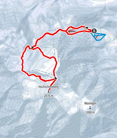 Karte / Über den Hoyosgraben auf den Schneeberg von Losenheim