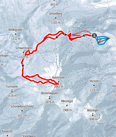 Karte / Schneeberg - Wurzengraben
