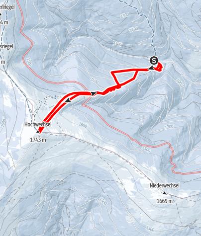 Karte / Hochwechsel von Mariensee