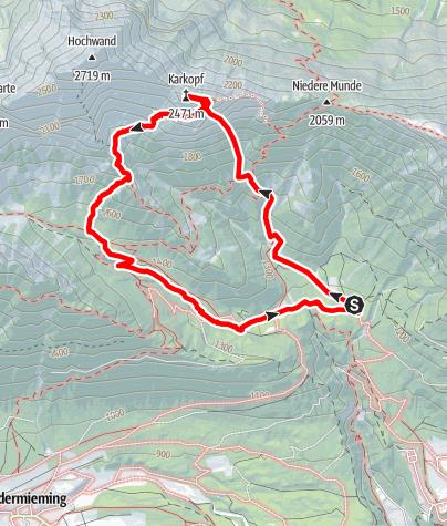 """Karte / """" Pflück den Tag"""" Schwgr. 7, Südwand, 450m, Karkopf-Mieminger Gebirge"""