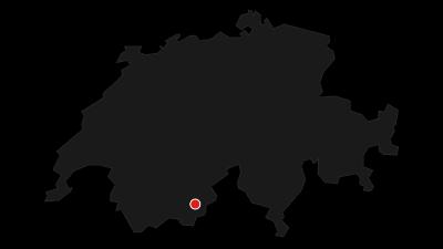 Karte / Von der Mischabelhütte auf das Nadelhorn und Ulrichshorn