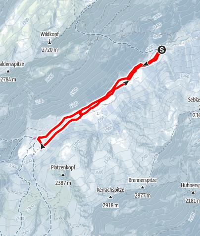 Karte / Von Seduck zur Oberissalm in Oberbergtal