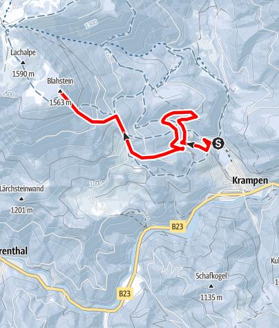 Karte / Auf den Blahstein