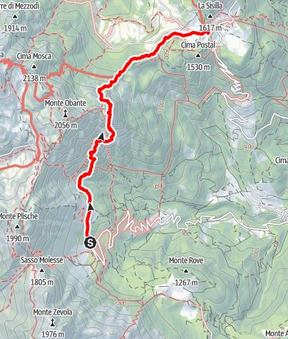 Karte / Mittels dem Klettersteig Vajo Scuro über die Cima Lavoraste nach Campogrosso
