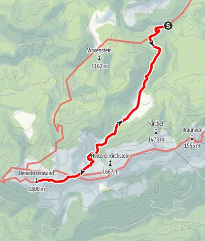 Karte / Benediktenwand über Längental