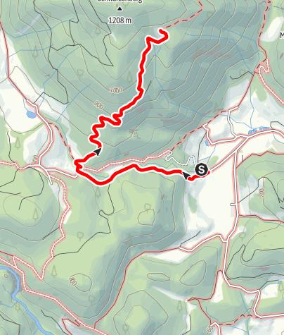 Karte / Ramsauer Alm / Schwarzenberg