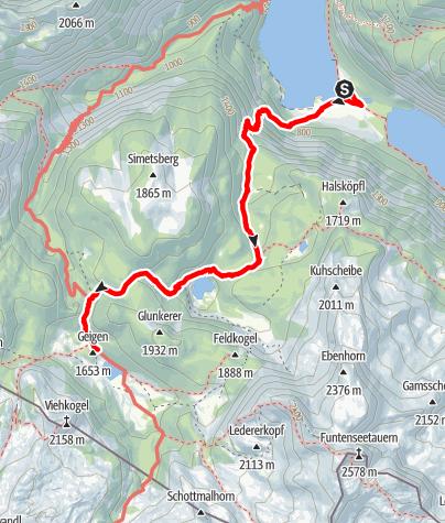 Karte / Zustieg Kärlingerhaus von der Salet-Alm / Königssee