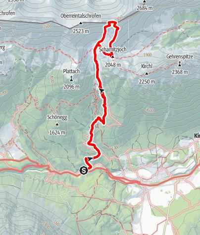 """Karte / """"Weberknecht"""" Schwgr. 9-, 200m, Scharnitzspitz-Südwand Wettersteingebirge"""