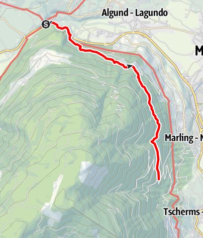 Karte / Marlinger Höhenweg ab Forst