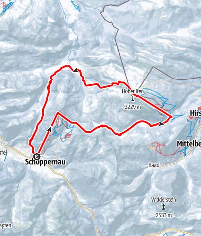 Karte / Ifenrunde von Schoppernau