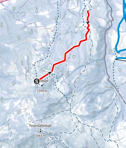Karte / Burstkopf Abfahrtsroute