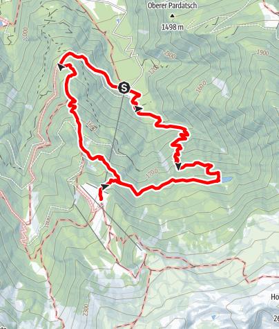 Karte / Tarscher See-Runde