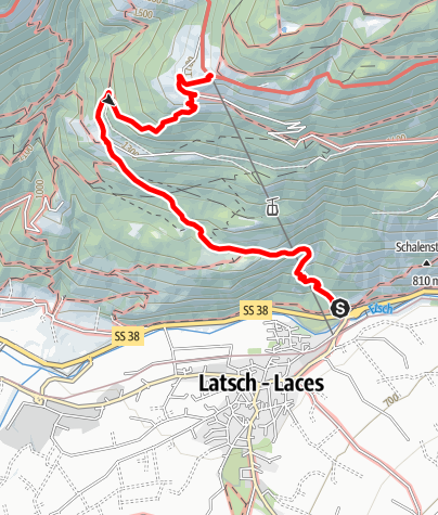Karte / Von Latsch nach St. Martin