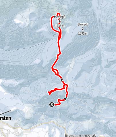Karte / Brandleck, Mayrwipfel und Kleinerberg, Windischgarsten