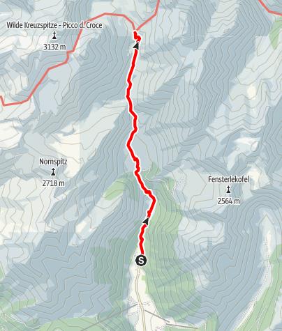 Karte / Von Vals über die Fane Alm zur Brixner Hütte