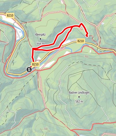 Karte / Heiligenkreuz - Über den Römerweg zur Schwarzbergaussicht