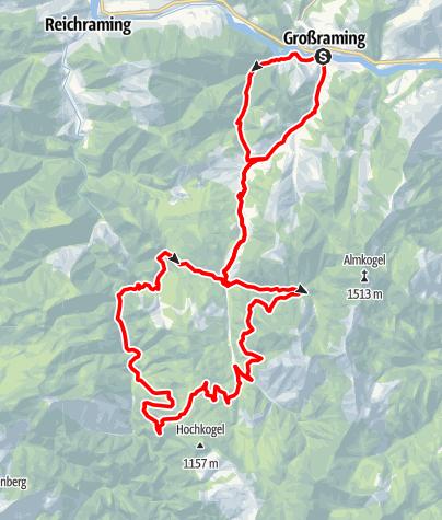 Karte / Brunnbacher Panoramatour, Großraming