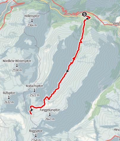 Map / Zustieg Stuttgarter Hütte von Steeg