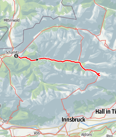 """Karte / ,Schlüssel zum Paradies """" Schwgr.9-, 110m (Schnittlwände)  Karwendelgebirge"""