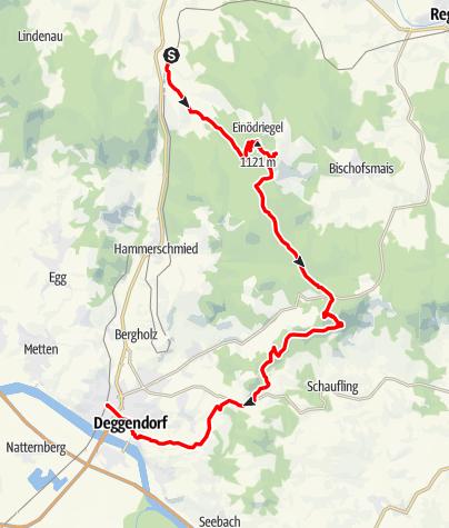 Karte / Von Gotteszell nach Deggendorf über Ruselabsatz