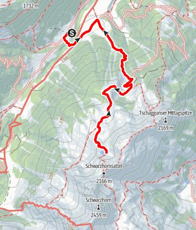 Karte / Montafon 1: Eingehtour zum Tobelsee