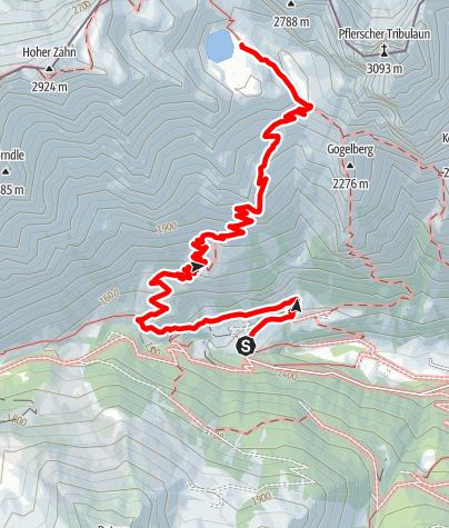 Karte / Lampskopf-Klettersteig zur Tribulaunhütte