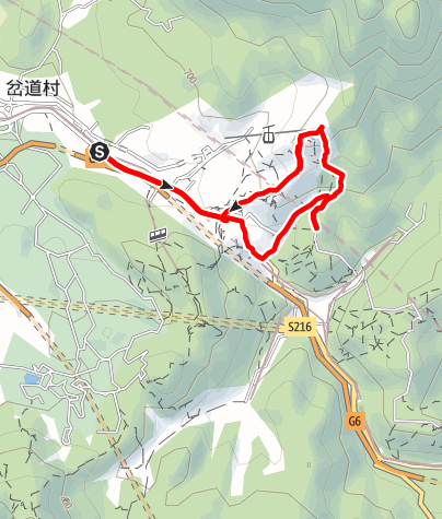 Karte / 北京八达岭长城徒步路线