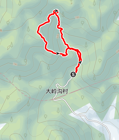 Karte / 大岭沟猕猴桃谷环游徒步路线