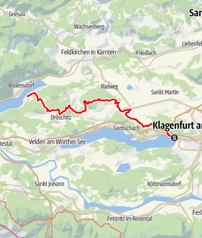 Karte / Wörthersee (Villa Lido) - Ossiacher Tauern - Ossiacher See (Ossiach)