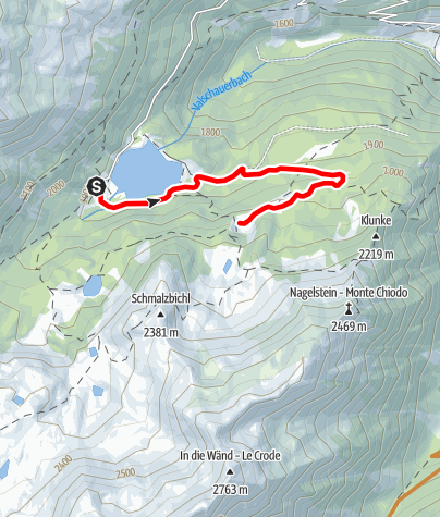 Karte / Radtour zur Fiechtalm