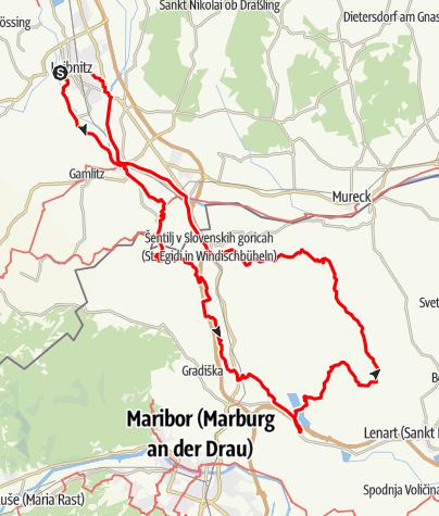 Karte / Radtour am 11. Oktober 2020