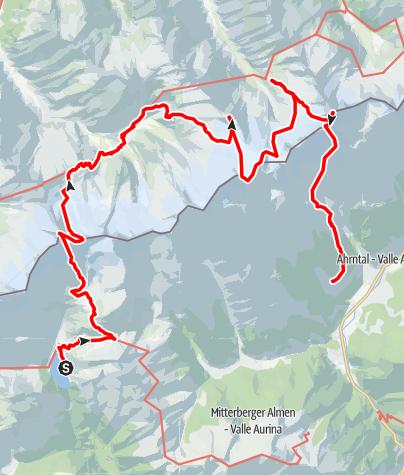 Karte / Durchquerung der Zillertaler 05.08 - 08.08.2021