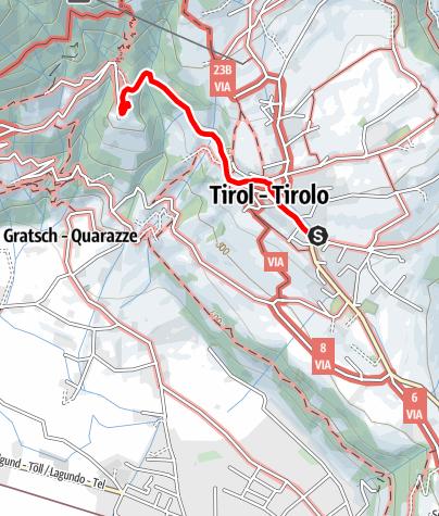 Mappa / Escursione da Tirolo a Castel Tirolo